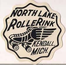 Vintage 1940s North Lake Roller Rink Kendall Michigan Mi Skate Skating Wings