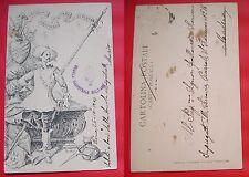 CARTOLINA SCUOLA MAGISTRALE MILITARE DI SCHERMA  VIAGGIATA 1904 #1#