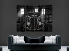 BLACK Hot Rod Auto Poster CLASSIC USA enorme grande WALL ART POSTER PICTURE