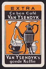 1 Single VINTAGE Swap/Playing Card ADV VAN YSENDYK GOOD KOFFIE COFFEE