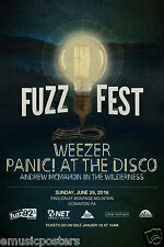 Weezer / Panic! At The Disco / Andrew Mcmahon 2016 Fuzzfest Concert Tour Poster