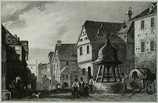 Lemaitre 1838 - LAHNSTEIN Oberlahnstein - originaler Stahlstich