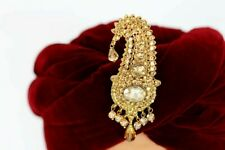 Mens Paisley Copper on Gold Kalgi Jewellery Broach for Indian Turban Hat