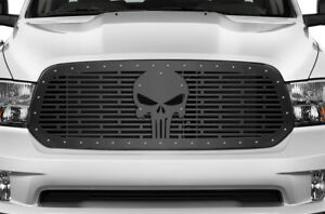 Custom Steel Aftermarket Grille Kit for Dodge Ram 1500 2013-2018 Grill SKULL
