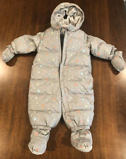 NWT Baby Gap Down Snow Suit W/ Matching Booties And Mittens - 6-12 Months