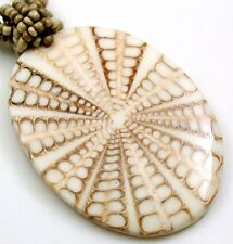Natural Cone Shell Oval Pendant Beads Necklace Handmade Women Jewelry FA287