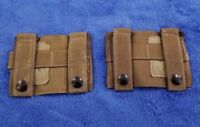 """NEW"" (Set-2) Molle K-BAR ADAPTERS, Coyote Tan, Genuine US Military, 4135CB"