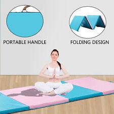 "4'x10'x2"" Gymnastics Thick Folding Panel Tumbling Fitness Exercise Gym Mat"