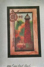 Currituck Beach Lighthouse Silkscreen Needlepoint Canvas
