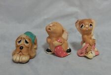 Pendelfin Lot of 3 Figurines Barney, Pooch, Totty