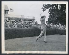 """1941 Horton Smith, """"Golf Superstar Drives at Fresh Meadow Country Club"""" Photo"""