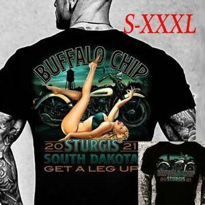 Sturgis 2021 Motorcycle Shirt, Buffalo Chip Leg Up 2 Sided Shirt, Biker Gift