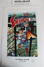 JOE SHUSTER AWARDS 2008 SUPERMAN LIMITED SIGNED NUMBERED PRINT DAVE SIM 12 X 18