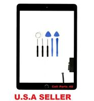 New Black Screen Digitizer Glass + Home Button  For IPad 5 Gen A1822 A1823 Tools