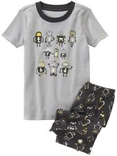 NEW Gymboree Baby Toddler Boys 18-24 mos Robot 2-Piece Shorts Gymmies Pajamas