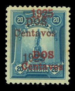 PERU 1925  Jose Olaya  2c on 20c blue -DOUBLE/TRIPLE SURCHARGE - Sc 252a mint MH