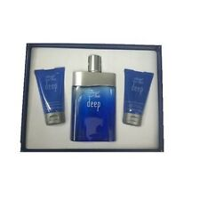 DAVIDOFF DEEP GIFT BOX EAU TOILETTE 100 ML + GEL + AFTER SHAVE