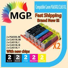 10pcs Ink Cartridges PGI-650XL CLI-651XL for Canon Pixma MG6360 IP7260 Printer