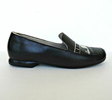Icon Hand Painted Art To Wear Buffet Women Leather Shoes 9 Loafers Flats Black