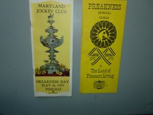 1970 PREAKNESS STAKES PROGRAM WON BY PERSONALITY & NATIONAL BOH BEER PROGRAM
