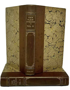 1826 The Plain Speaker, Opinions On Books First Edition