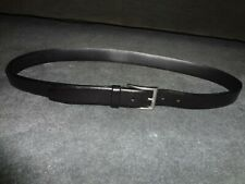 Men's Eddie Bauer Black Leather Dress Belt size 38 USA