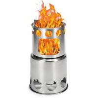 Camping Wood Stove Cooking Pot Portable Outdoor Cook Picnic Hiking Cookware Bowl