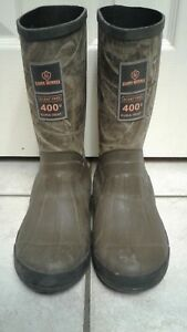 GAME WINNER CAMOUFLAUGE HUNTING BOOTS BOYS SIZE 5