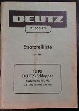 Deutz Schlepper F1L 712 Ersatzteilliste