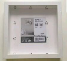 New Square Deep Shadow Box Photo Picture Frame White 23x23cm Scrabble Display 3D