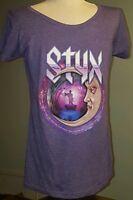 Womens STYX Concert-Tour-Purple Tshirt-All Hits All Night-Renegade-Ladies-Tultex