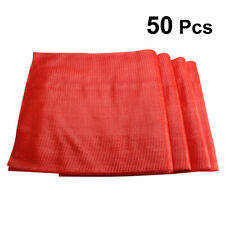50Pcs Poly Mesh Bags Toys Storage Poly Bags Mesh Net for Farm Stands Home Use