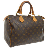 LOUIS VUITTON SPEEDY 30 HAND BAG PURSE MONOGRAM M41526 TH1919 AUTHENTIC M14390a