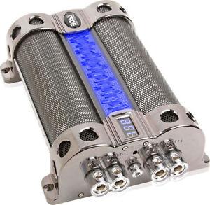Boss Audio CAP18 Digital Hybrid 18 Farad Car Capacitor/Cap w/ Blue Illumination