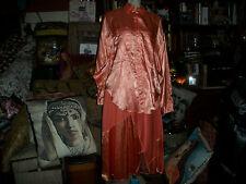 CAROLE LITTLE St Tropez Sunburst Orange Satin Blouse+Skirt Set  Size 12