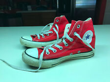 Old Vtg Red High-Top CONVERSE ALL STAR CHUCK TAYLOR Sneakers Men's Size 5/37.5