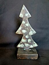 """Lost wax cast Bronze Holiday Christmas Tree, 6"""" Pine Decorative Sculpture"""