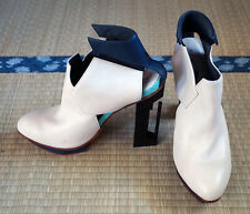 WXY Solestruck Fighter Ankle Boot Ivory Sz 38 8US alexander wang mcqueen y-3