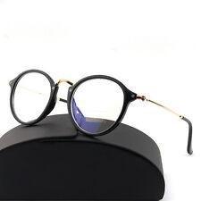 1x  Jahrgang Nerd Brille filigran Rund Glasses Klarglas Hornbrille-Eyewear· S6Z5