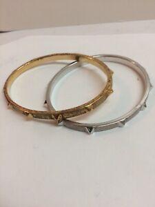 Virgins Saints & Angels Sterling Oval Bangle Bracelets