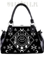 Restyle SYMBOLIC FRAME BAG Black Velvet Gothic Occult handbag Punk Witch Purse