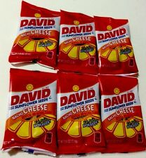 DAVID SUNFLOWER SEED NACHO CHEESE flavor roasted & salted Snacks lot of 6