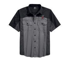 Harley-DavidsonMen's #1 Colorblock Shirt Herren Hemd Gr. XL - kurzarm, Grau