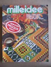 MILLEIDEE n°4 1977 - rivista di moda e lavori femminili  [G582]
