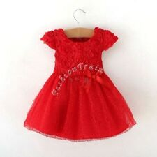 Baby Girls Party Fancy Flower Princess Wedding Dress First 1st Birthday Outfits