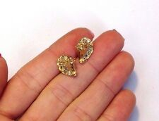 14K Yellow Gold .24CT Diamond Conch Shell Beach Earrings