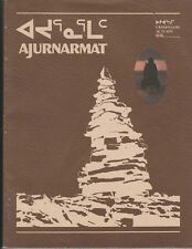 AJURNARMAT AUTOMN 1978 HUNTING AND TRAPPING LIFESTYLE INUIT INSTITUTE