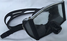 Vintage ScubaPro Tempered Tri Glass Dive Mask Wrap Around Three Window Snorkel