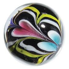 """22mm ALCHEMY Blue Yellow Pink Design Handmade art glass Marble 7/8"""" SHOOTER"""