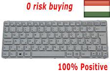 For Sony Vaio SVE1111M1E SVE1112M1E SVE1113M1E Keyboard Hungarian Magyar White